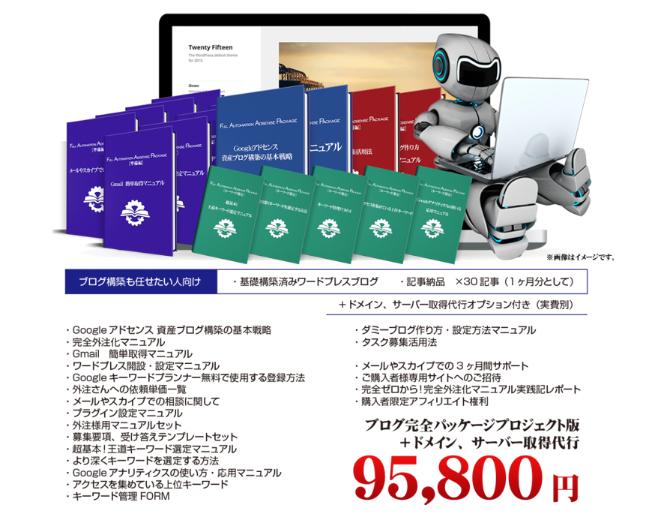 「フルオートメーションアドセンスパッケージ」1