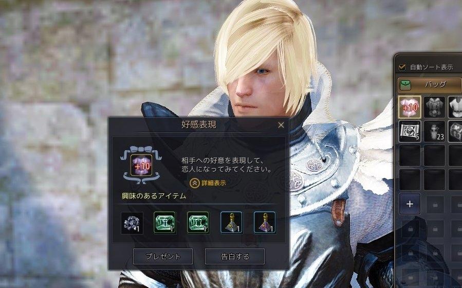 基本プレイ無料のノンターゲティングアクションRPG『黒い砂漠』 NPCと親密になれる新機能「告白システム」を実装したよ~!!