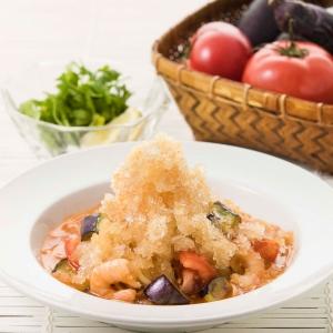 海老と夏野菜のトムヤムロッソwithパクチー