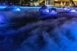 光と霧のデジタルアート庭園2