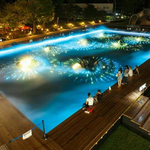 光と霧のデジタルアート庭園3