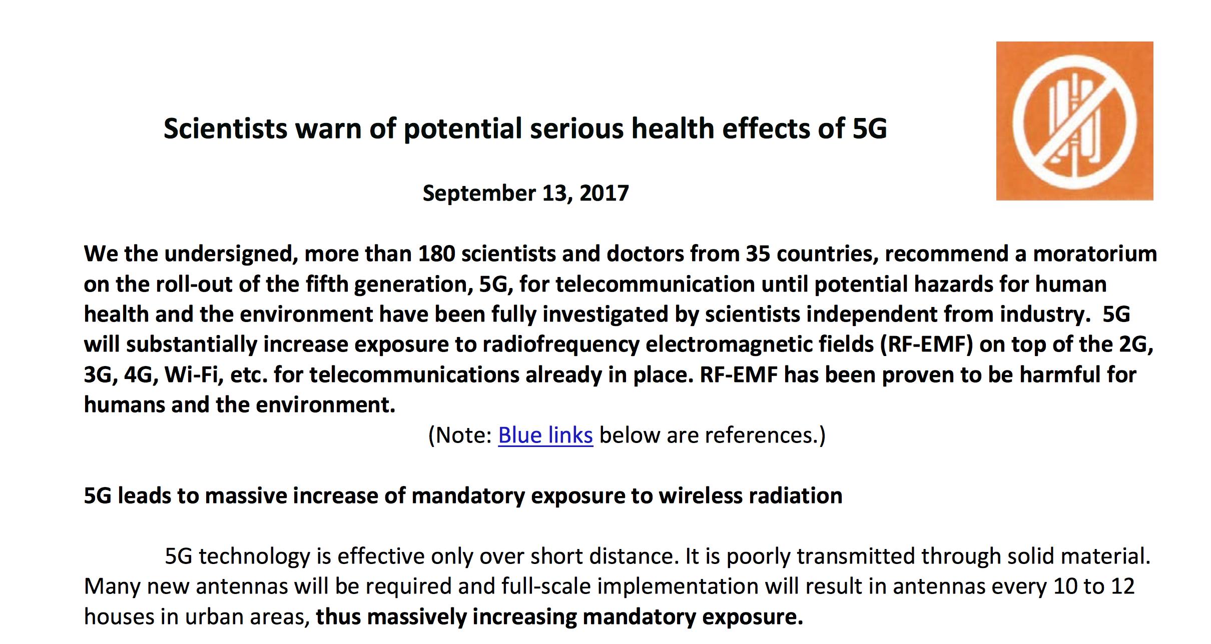 5Gが強力電磁波を強要