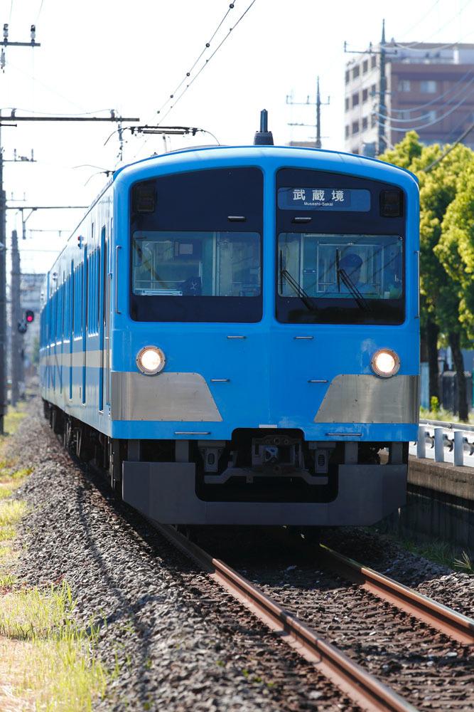 180826_西武多摩川線_近江色101系2