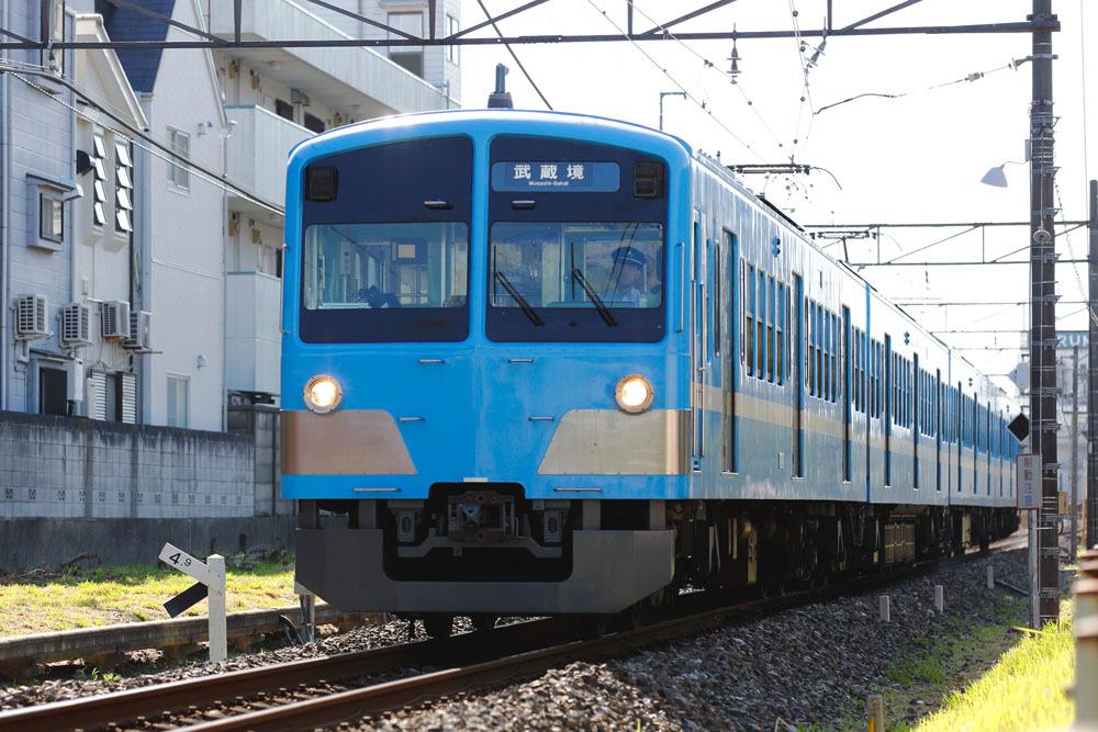 180826_西武多摩川線_近江色101系1