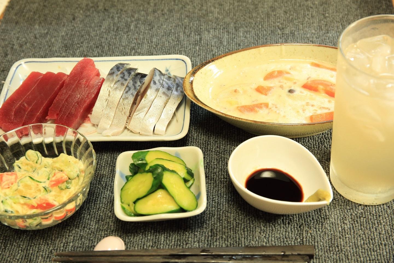 ブログ 刺身定食  夕食.jpg