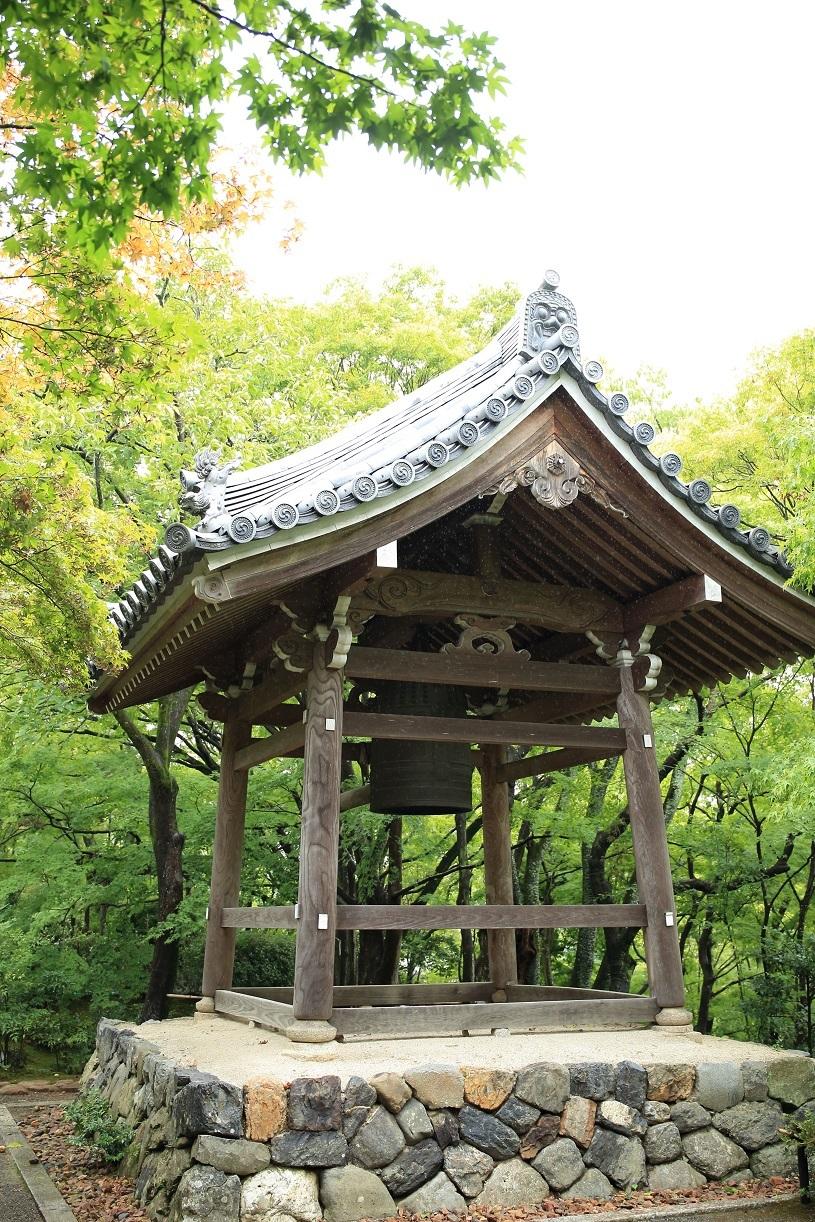 ブログ 紅葉で有名なお寺、流石に鐘の音に響いて色めき立ち始めたね.jpg