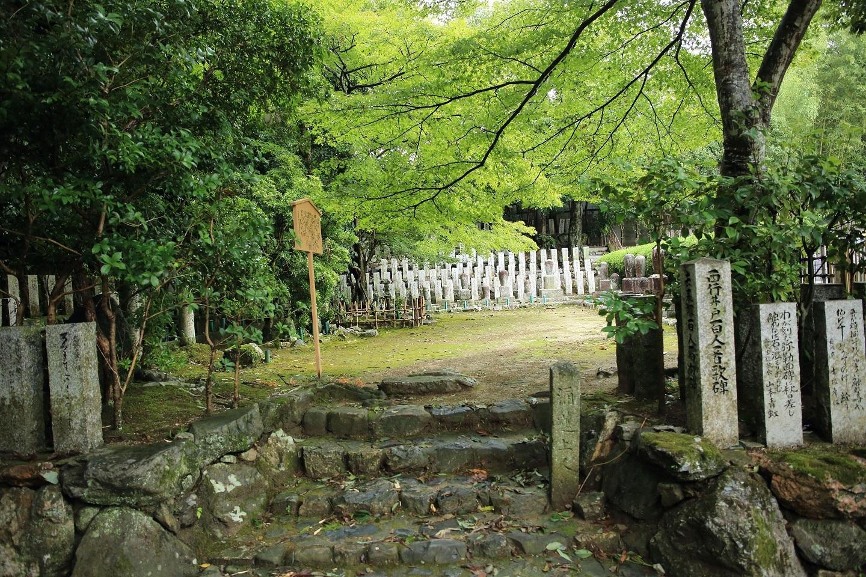 ブログ 落柿舎の裏手 西行井戸百人一首歌碑.jpg