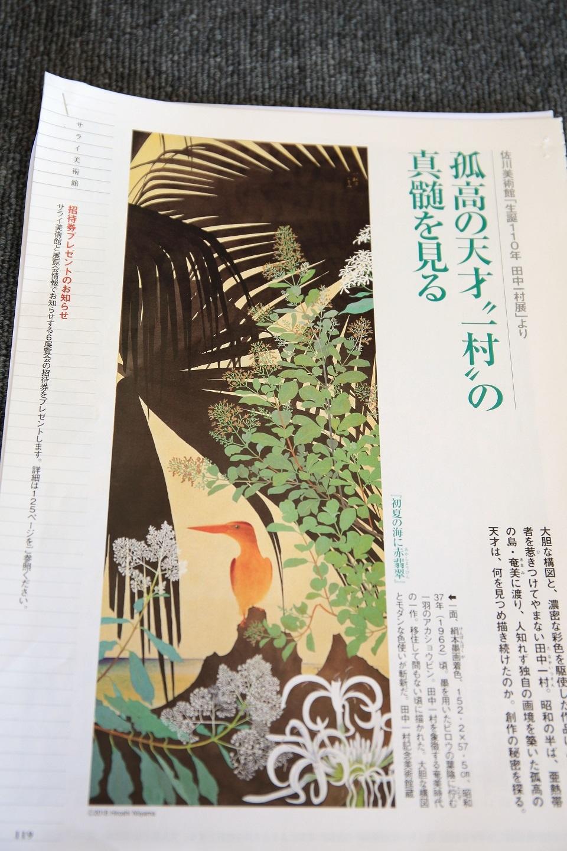 ブログ 雑誌サライの一村展の紹介記事からアカショウビンが目を引く.jpg