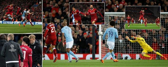 Liverpool 3-0 Manchester City Mohamed Salah, Alex Oxlade-Chamberlain and Sadio Mane score
