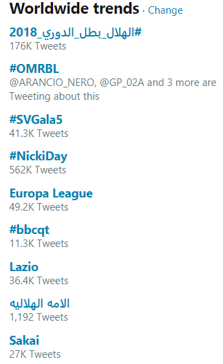 sakai goal twitter Worldwide trends