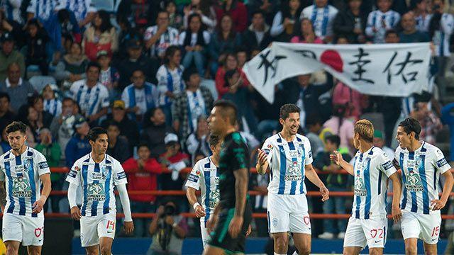 Pachuca [1]-0 Santos - Keisuke Honda goal