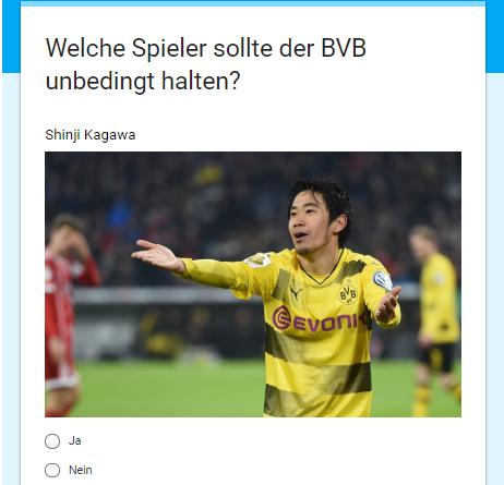 Welche Spieler sollte der BVB unbedingt halten Shinji Kagawa