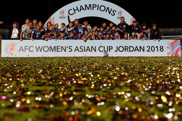 Japan win their second successive Asian title Confetti time
