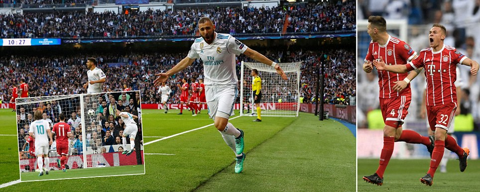 Real Madrid vs Bayern Munich Benzema restores holders aggregate lead after Kimmich scored three minutes into second leg