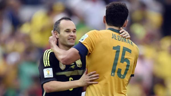 Australia the preferred destination for departing andres iniesta