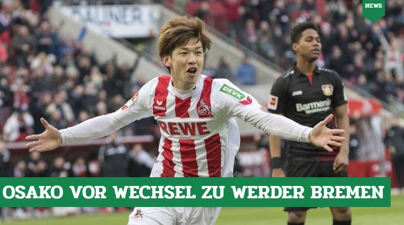 Bremen sign 27 year old forward Yuya Osaka from Köln for a reported release clause of €6 Million