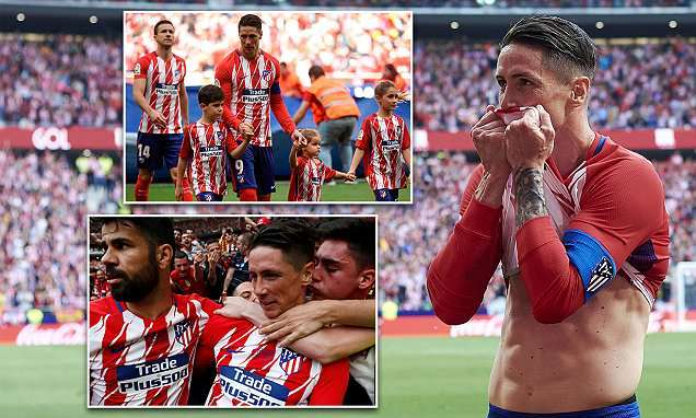Fernando Torres given perfect send-off as he scores twice in final ever match for his boyhood club at Wanda Metropolitano