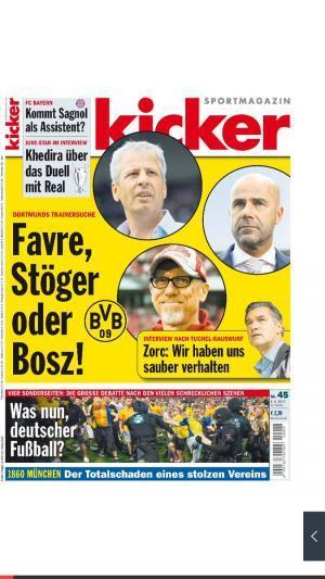Favre Stöger or Bosz
