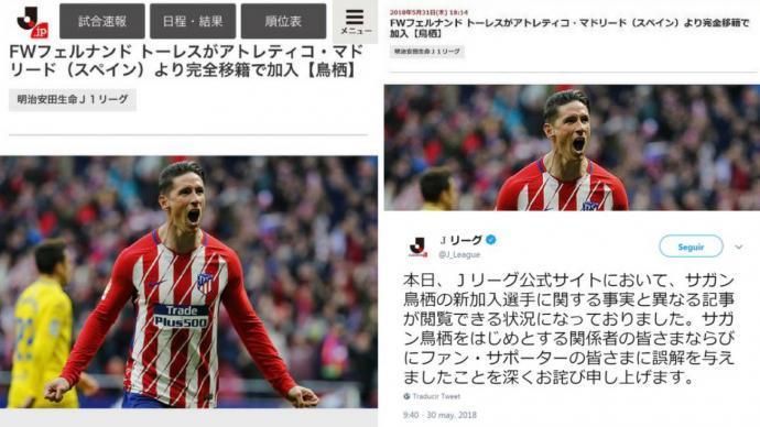 Fernando Torres signing with Sagan Tosu