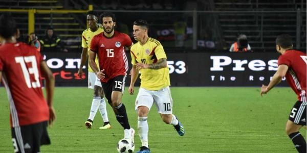 Colombia held scoreless again in World Cup warm-up against Egypt
