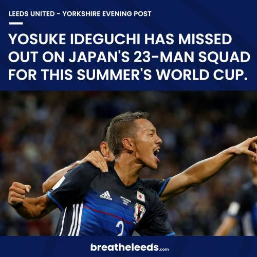 Shame on you Fans blame Leeds as Japan axe Yosuke Ideguchi