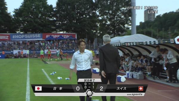 Switzerland 2-0 Japan nishino