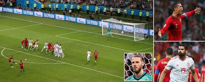 Portugal 3-3 Spain Cristiano Ronaldo scores sensational free kick to complete hat-trick