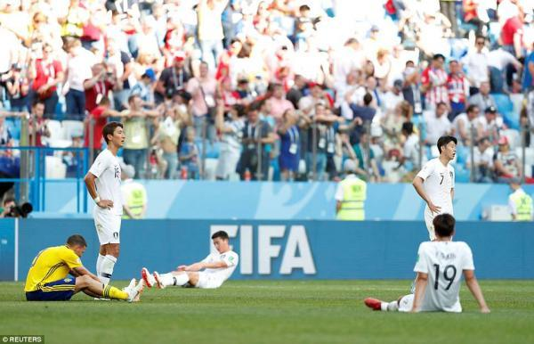 South Korea went in search of an equaliser right until the final whistle but they could not find one as they slumped to defeat