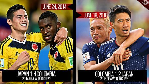 Japans victory over Colombia