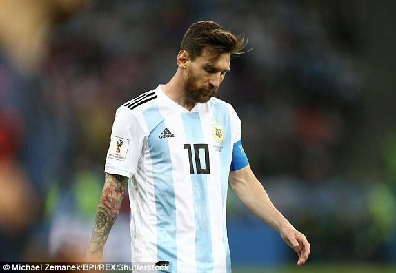 It has been a frustrating night for Messi
