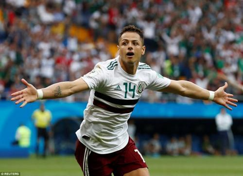 Hernandez underlined his status as a Mexican national hero by scoring their second goal in Rostov