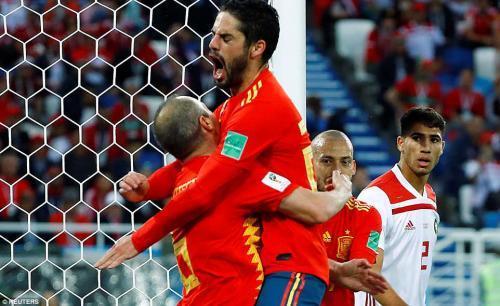 Spain 2-2 Morocco 2018