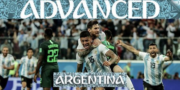 Nigeria 1 - 2 Argentina messi goal