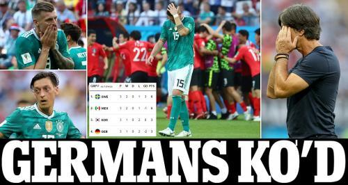 Holders Germany crash OUT of the World Cup as they LOSE to South Korea