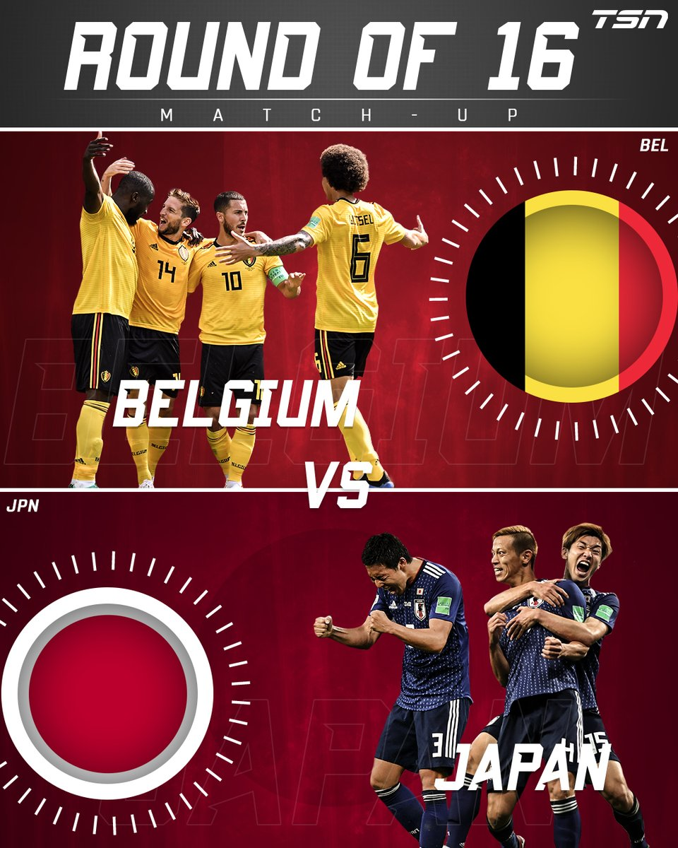 Belgium will face Japan in the Round of 16