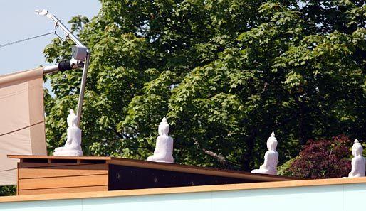 Jurgen Klinsmann FC Bayern manager he set up Buddha statues at the training ground