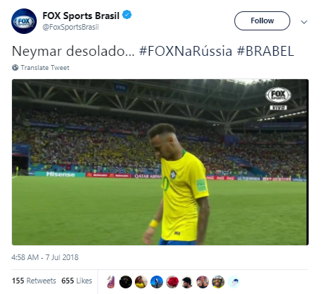FoxSportsBrasil Brazil eliminated