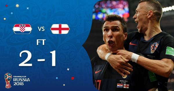 Croatia advance to the World Cup final England eliminated