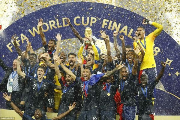 France win the 2018 FIFA World Cup