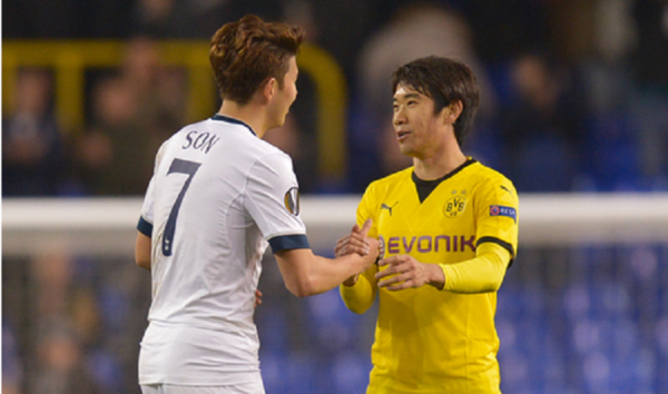 kagawa and Son Heung-Min