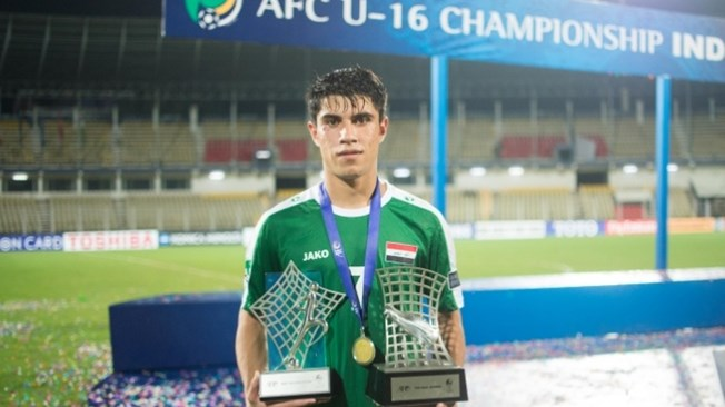Iraqi player Mohammed Dawood