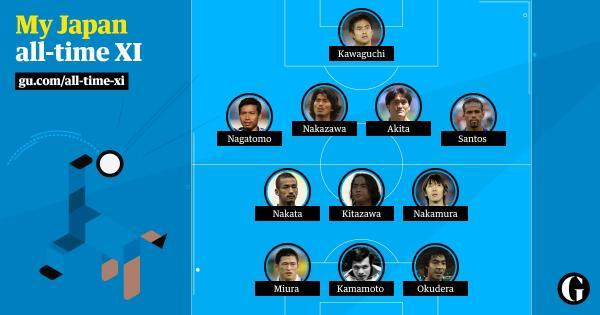 Japan all time XI chosen by argentina