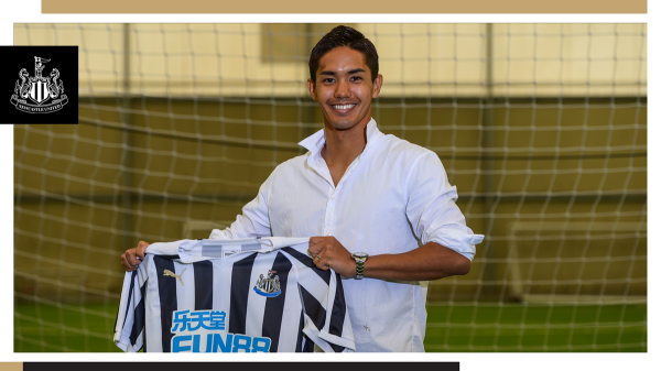 Muto has signed an initial four-year contract at St James' Park after