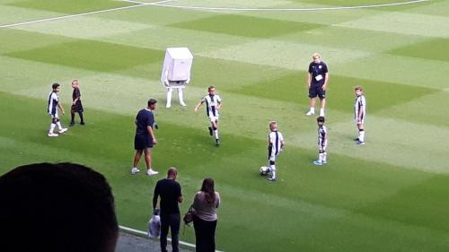 mascot walked around the pitch prior to kick-off in the opening Championship fixture