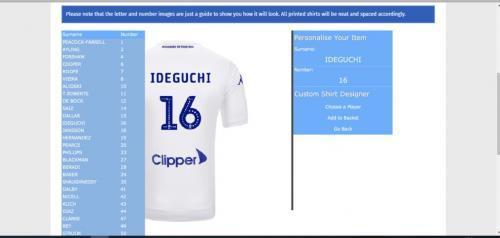 Ideguchi squad number