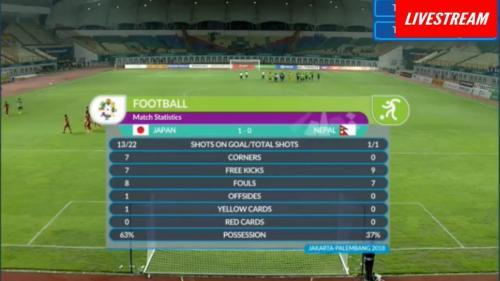Japan_Nepal 1-0 Asian Games 2018