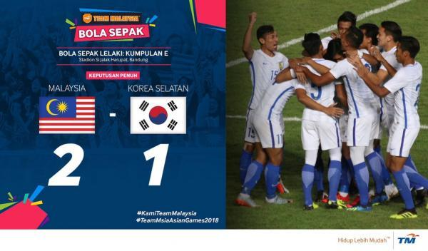 2018 Asian Games Malaysia 2-1 South Korea