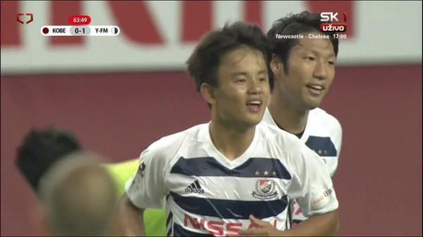 Barcelona wunderkind Takefusa Kubo scored first goal in J1 against Andres Iniesta's Vissel Kobe