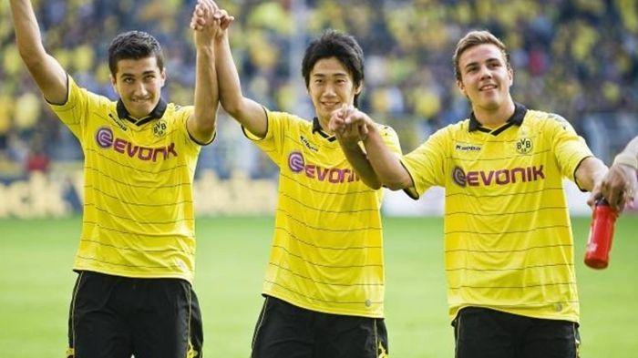 Nuri Sahin, Shinji Kagawa, Mario Götze (Dortmund 2010)