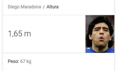Diego Maradona 165cm